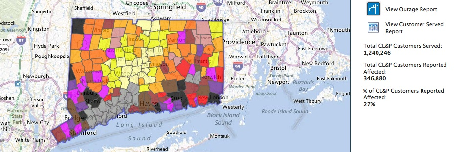 Cl P Power Outage Map.October 2012 Just Starting Out