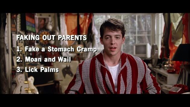 via dvdbeaver.com (Matthew Broderick in Ferris Bueller's Day Off )